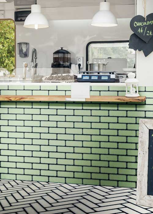 Brique Green Tile