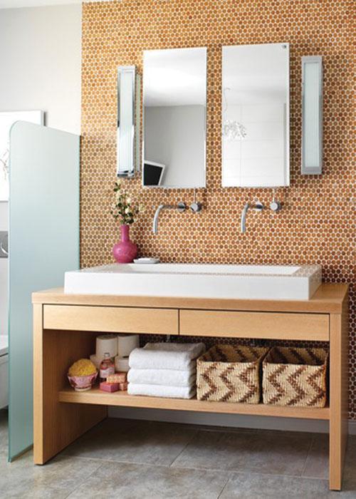 Cork Mosaic Sink Wall