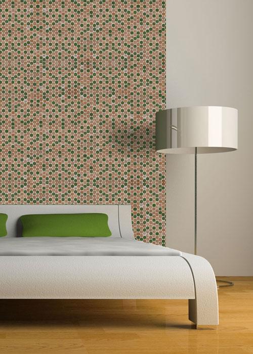 Cork Mosaic Tile Color Mix Headboard