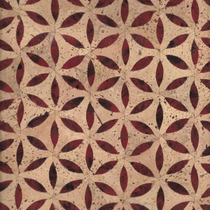 Fiore Rosso Cork Fabric