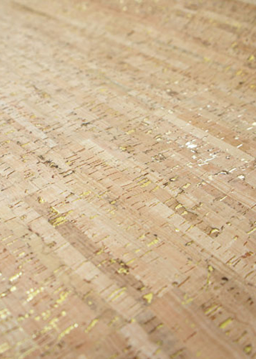 Minore Gold Backed Cork Fabric