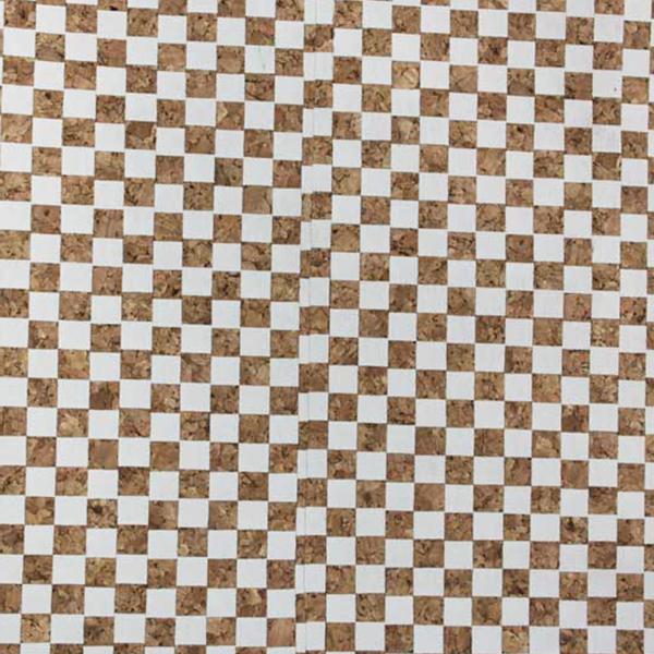 Micro Dama Bianco Cork Fabric