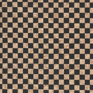 Micro Dama Nera / Black Checkered Cork Fabric