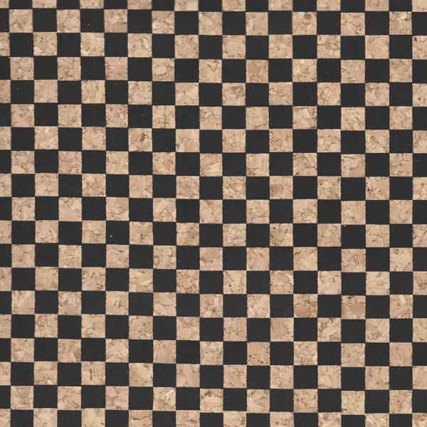 Micro Dama Nera / Black Checkered Cork Fabric
