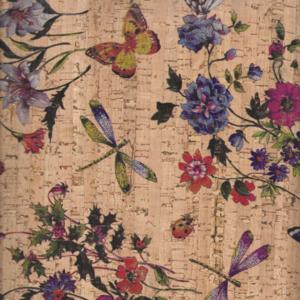 Prato Fiorito Cork Fabric