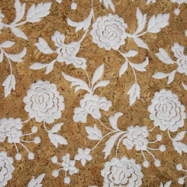 Triplex Fiore Bianco Cork Fabric