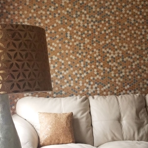 Habitus Cork Mosaic Tile Color Mix