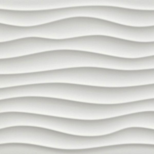 Dune White Matte 3D Tile