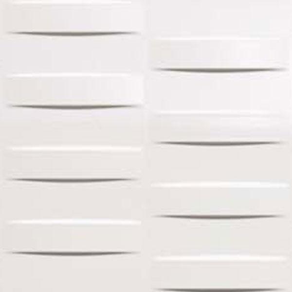 Grid White Glossy 3D Tile