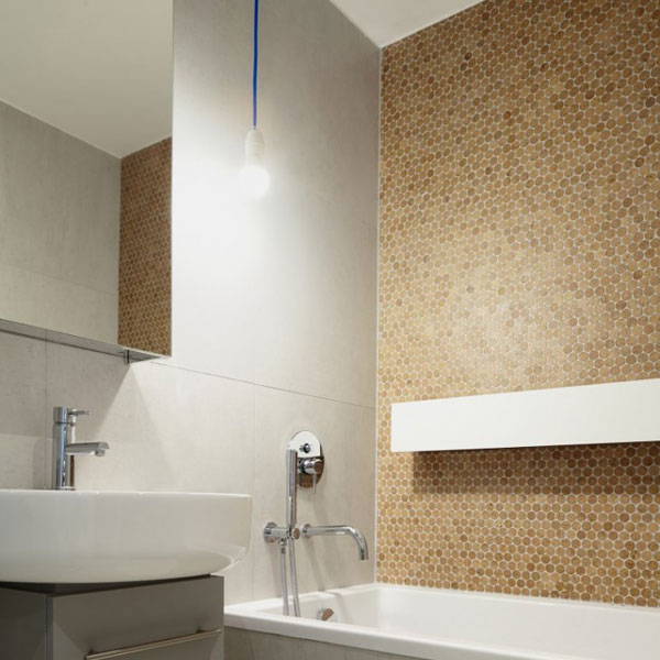 Cork Mosaic Penny Tile Natural Finish