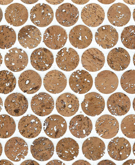 Prefinished Cork Mosaic Penny Tile
