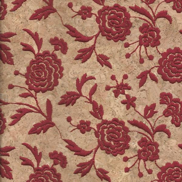Triplex Fiore Rosso Cork Fabric