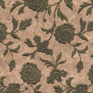 Triplex Fiore Verde Cork Fabric