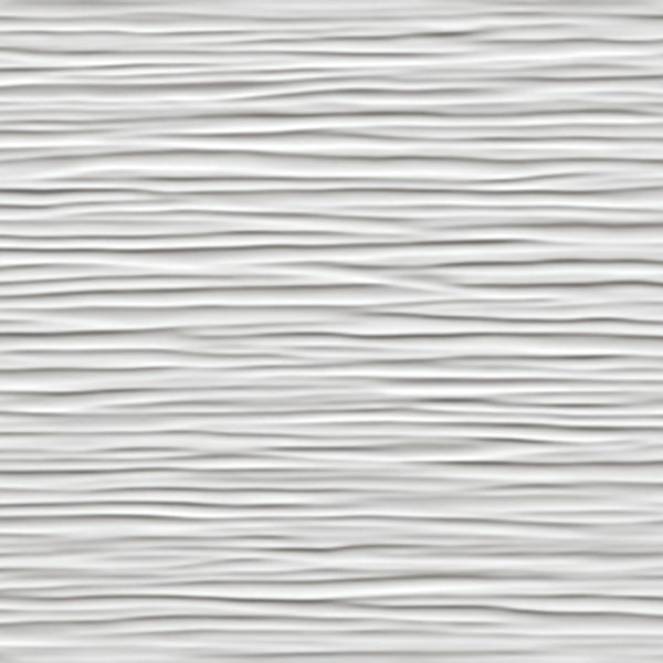 Wave White Glossy 3D Tile