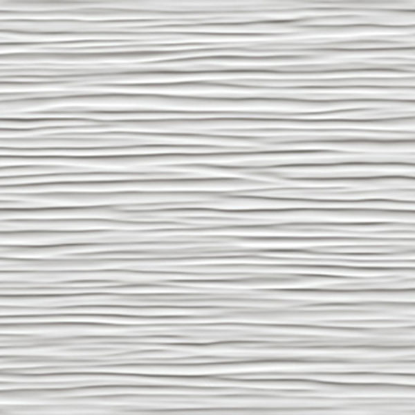 14 Sf Wave White Glossy Wall Tile