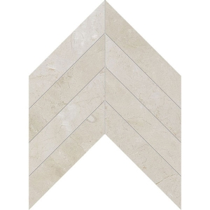Crema Marfil Honed Chevron