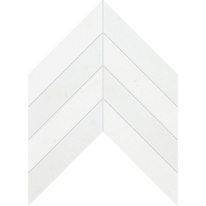 Ibiza White Polished Chevron