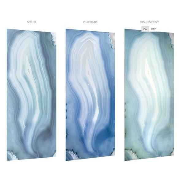 Gem Agata Blu Chromo Glass Slab 47 Quot X 110 Quot The Habitus